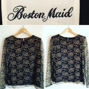 Vintage Boston Maid Lace Blouse